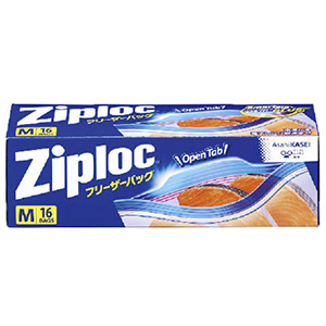 Ziploc(ジップロック) フリーザーバッグ Mサイズ(16枚)